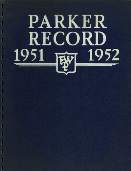 1952 Francis W. Parker School Yearbook Cover