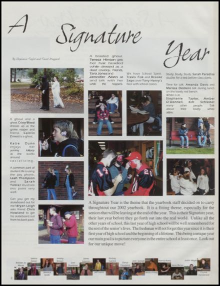 2002 Shelton High School Yearbook Page 6