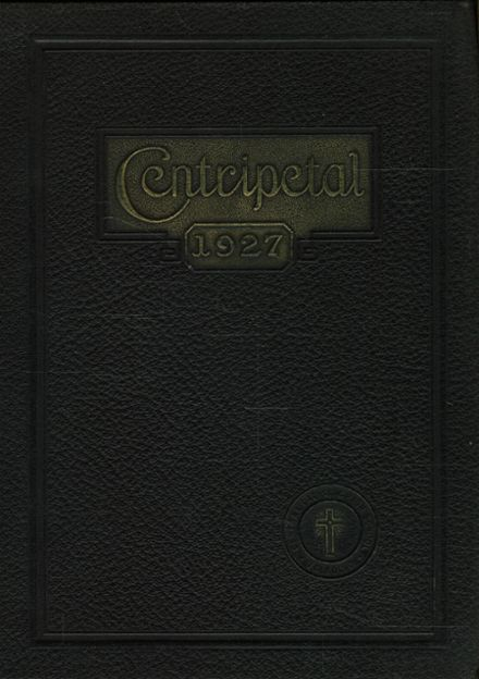 1927 Central Catholic High School Yearbook Cover