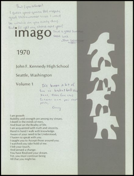 1970 John F. Kennedy Memorial High School Yearbook Page 5