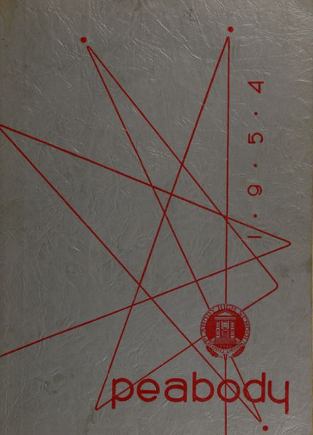 1954 Peabody High School Yearbook Cover