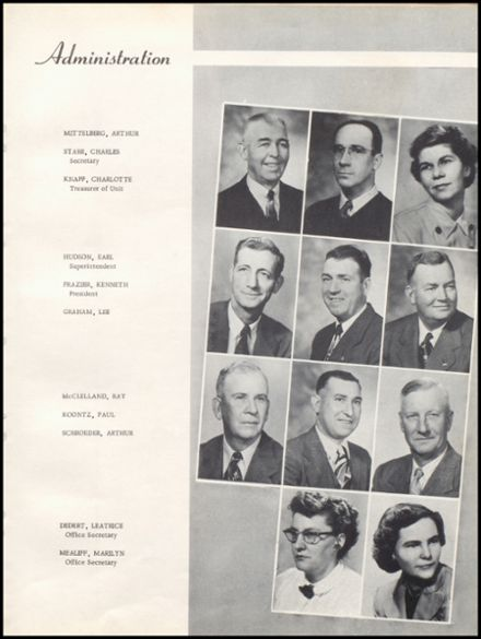 1953 Unity High School Yearbook Page 9