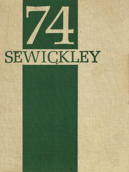 1974 Sewickley High School Yearbook Cover