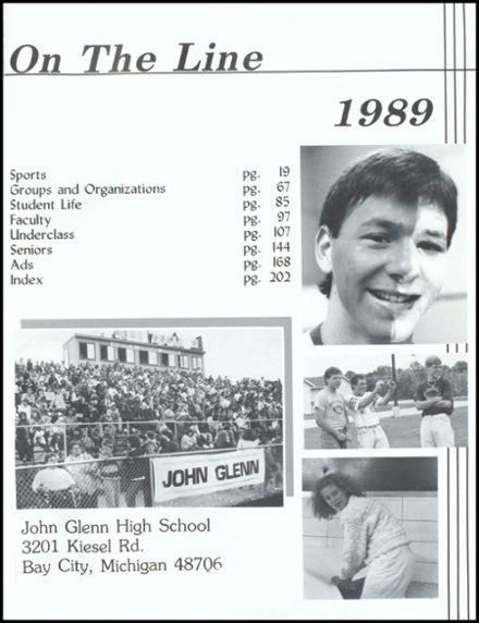 1989 John Glenn High School Yearbook Page 5