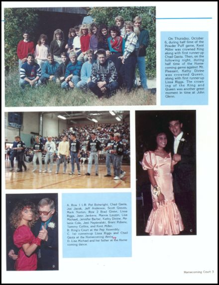 1989 John Glenn High School Yearbook Page 7