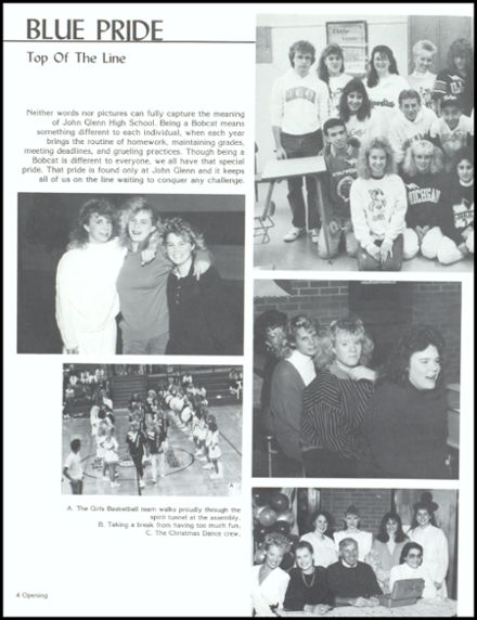 1989 John Glenn High School Yearbook Page 8