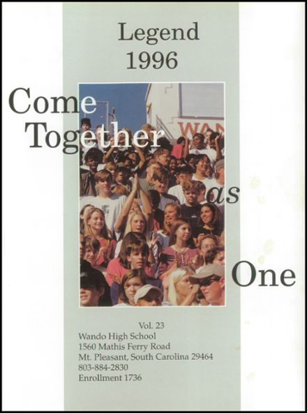 1996 Wando High School Yearbook Page 5