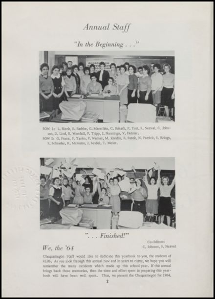 1964 Rib Lake High School Yearbook Page 6