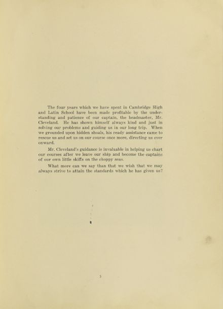 1932 Cambridge Latin High School Yearbook Page 9