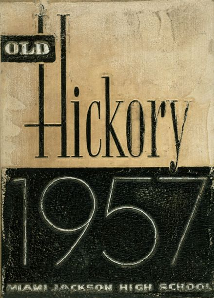 1957 Miami Jackson High School Yearbook Cover