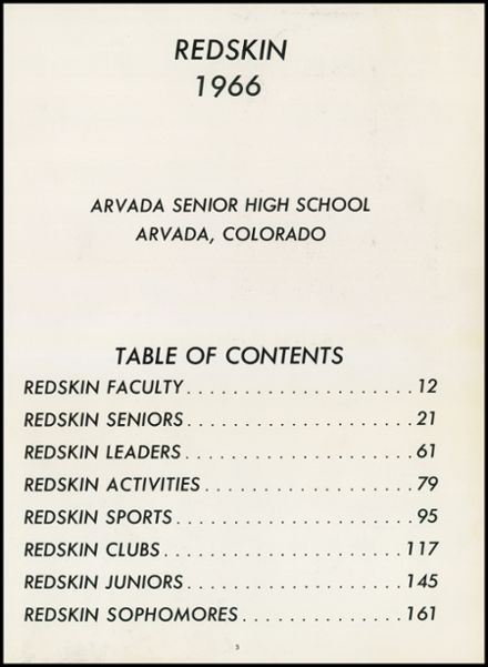 1966 Arvada High School Yearbook Page 7