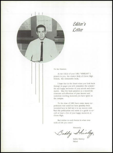 1961 Glenn High School Yearbook Page 8