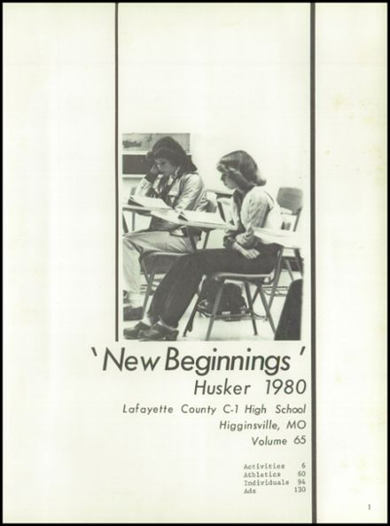1980 C1 High School Yearbook Page 5