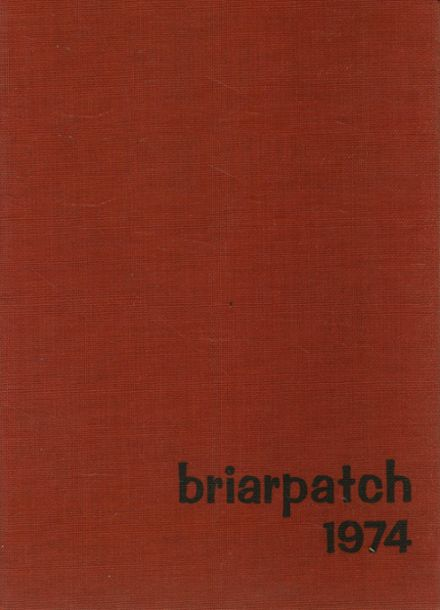 1974 Briarfield Academy Yearbook Cover