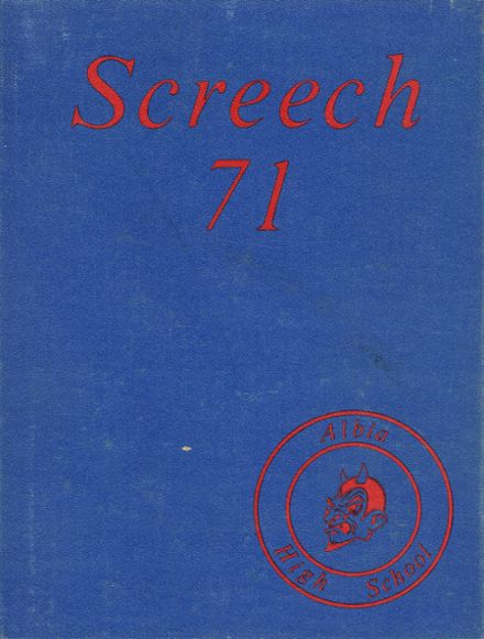 1971 Albia Community High School Yearbook Cover