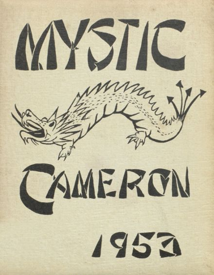 1953 Cameron High School Yearbook Cover