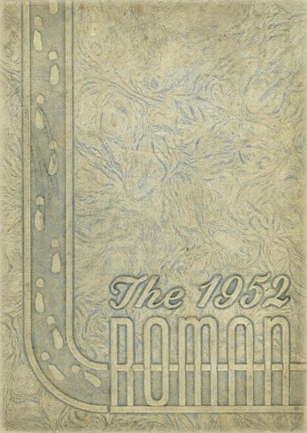 1952 Rome High School Yearbook Cover