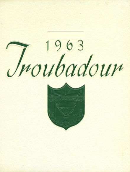 1963 Catholic High School of Baltimore Yearbook Cover