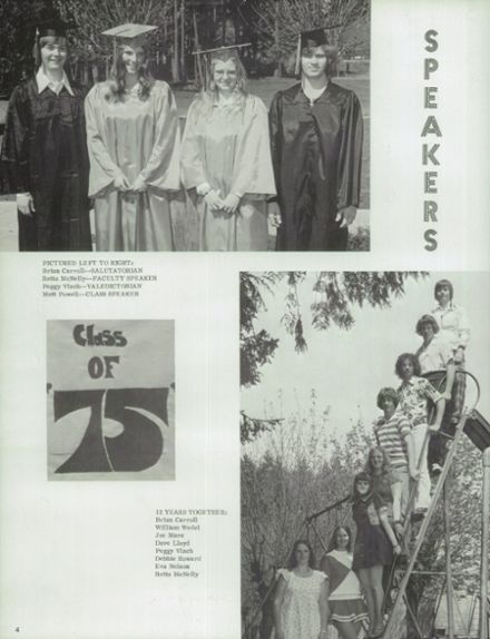1975 Napavine High School Yearbook Page 8