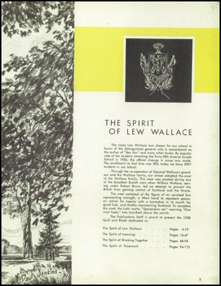 1958 Lew Wallace High School Yearbook Page 7