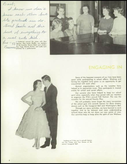 1958 Lew Wallace High School Yearbook Page 8