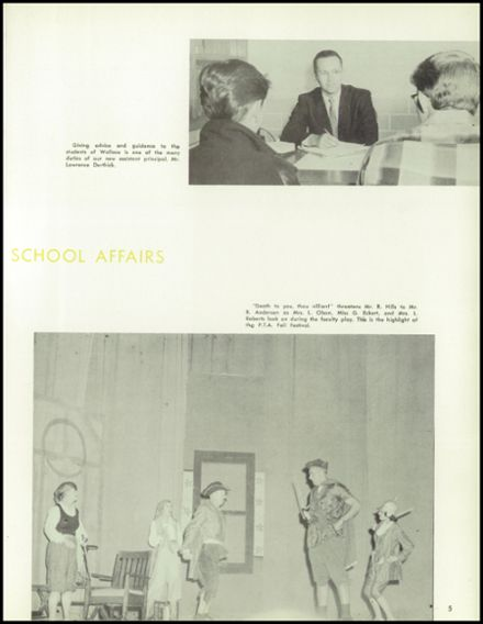 1958 Lew Wallace High School Yearbook Page 9