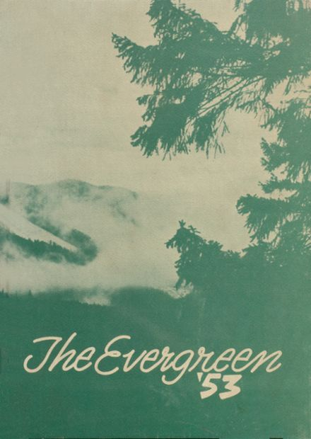 1953 Quilcene High School Yearbook Cover