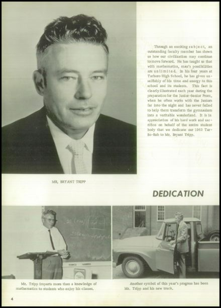 1963 Tarboro High School Yearbook Page 8