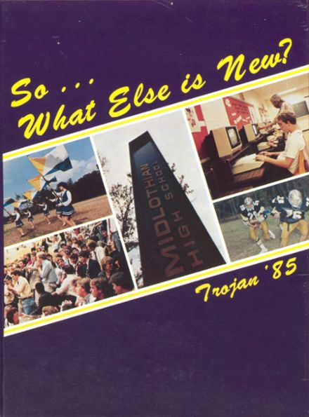 1985 Midlothian High School Yearbook Cover