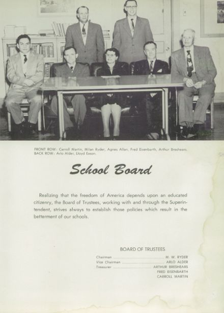 1956 Weiser High School Yearbook Page 9
