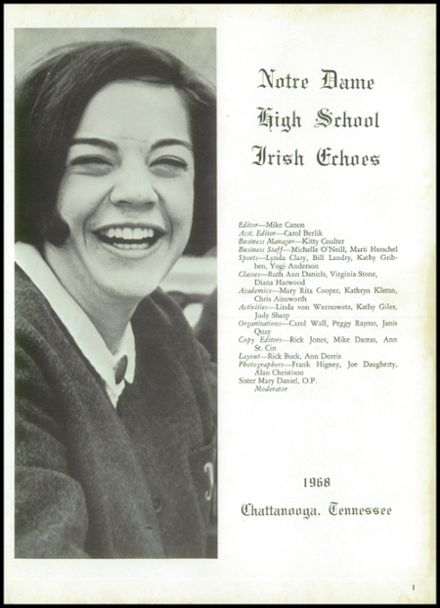1968 Notre Dame High School Yearbook Page 5