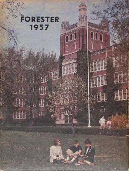 1957 Forest Park High School 406 Yearbook Cover