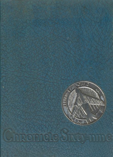 1969 Alliance High School Yearbook Cover