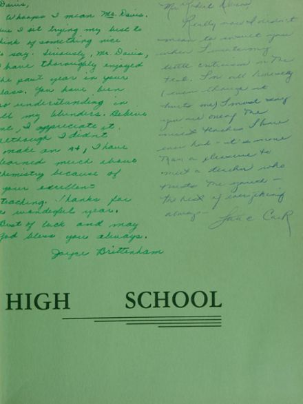 1960 South Side High School Yearbook Page 3