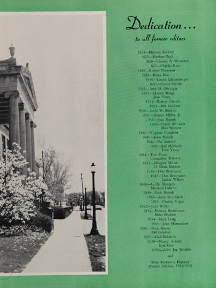 1960 South Side High School Yearbook Page 7