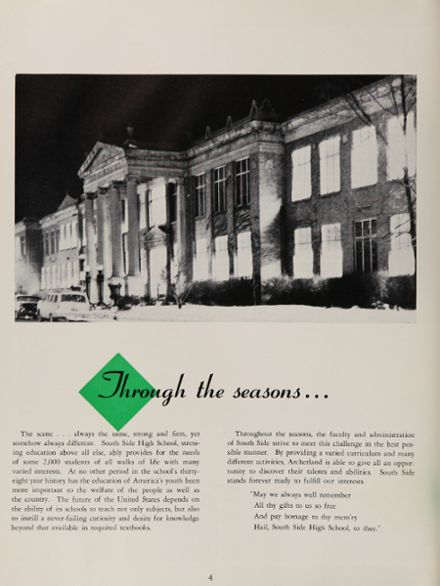 1960 South Side High School Yearbook Page 8