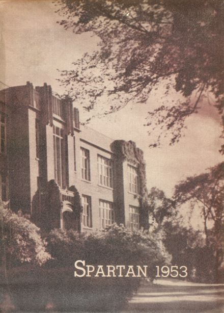 1953 Sparta High School Yearbook Cover