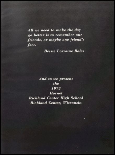 1973 Richland Center High School Yearbook Page 5