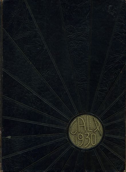 1930 Maysville High School Yearbook Cover