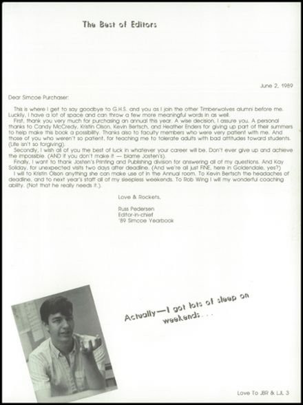 1989 Goldendale High School Yearbook Page 7