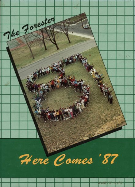 1987 Forest Park High School 406 Yearbook Cover