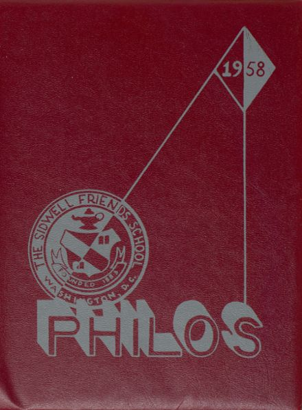 1958 Sidwell Friends High School Yearbook Cover