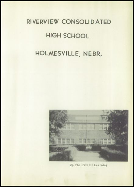 1953 Holmesville High School Yearbook Page 7