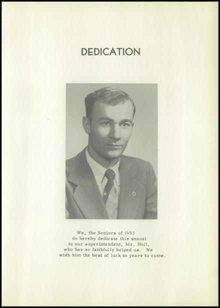 1953 Holmesville High School Yearbook Page 9