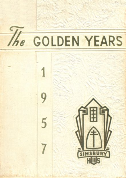 1957 Simsbury High School Yearbook Cover