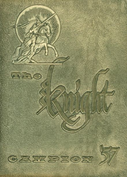 1957 Campion Jesuit High School Yearbook Cover