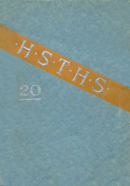 1920 Harter Stanford Township High School Yearbook Cover