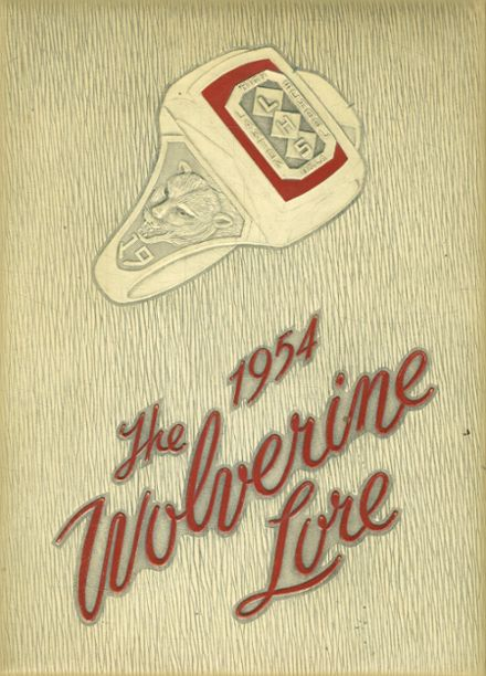 1954 Lawton High School Yearbook Cover