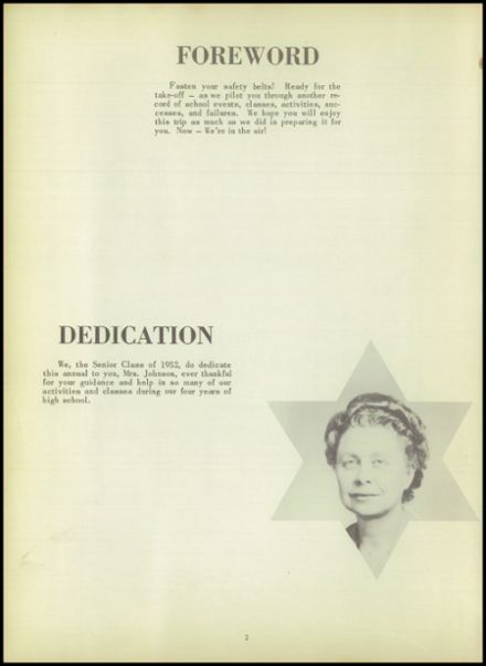 1952 Ada High School Yearbook Page 6