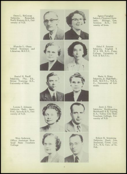 1952 Ada High School Yearbook Page 8